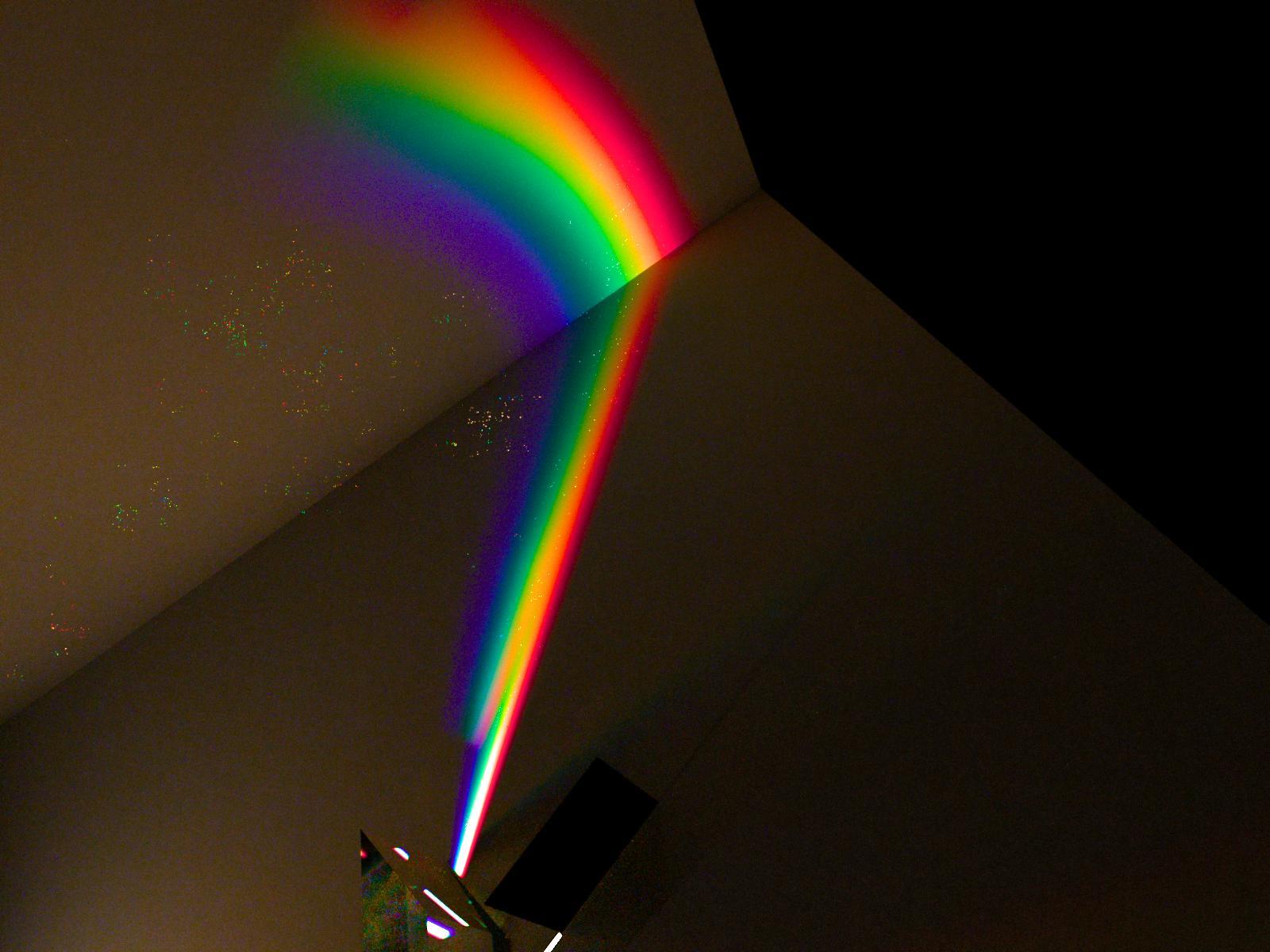 Dispercsion luz blanca con luxender prisma